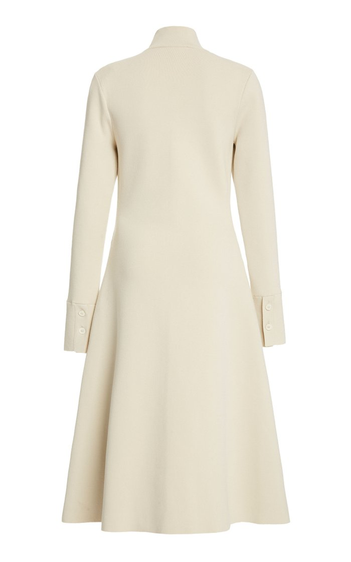 Giotto Button-Embellished Jersey Midi Dress
