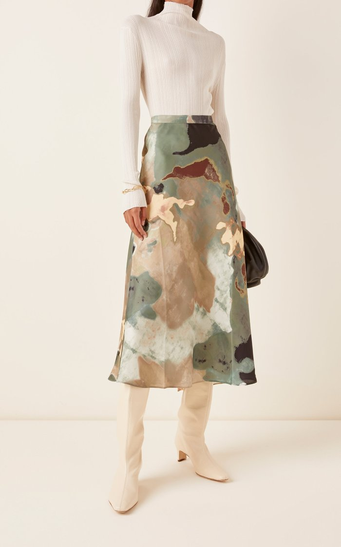 Hume Printed Crepe De Chine Maxi Skirt