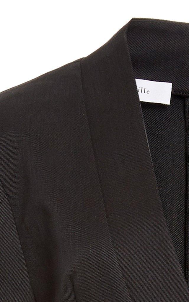 Rhodes Organic Cotton-Blend Twill Mini Dress