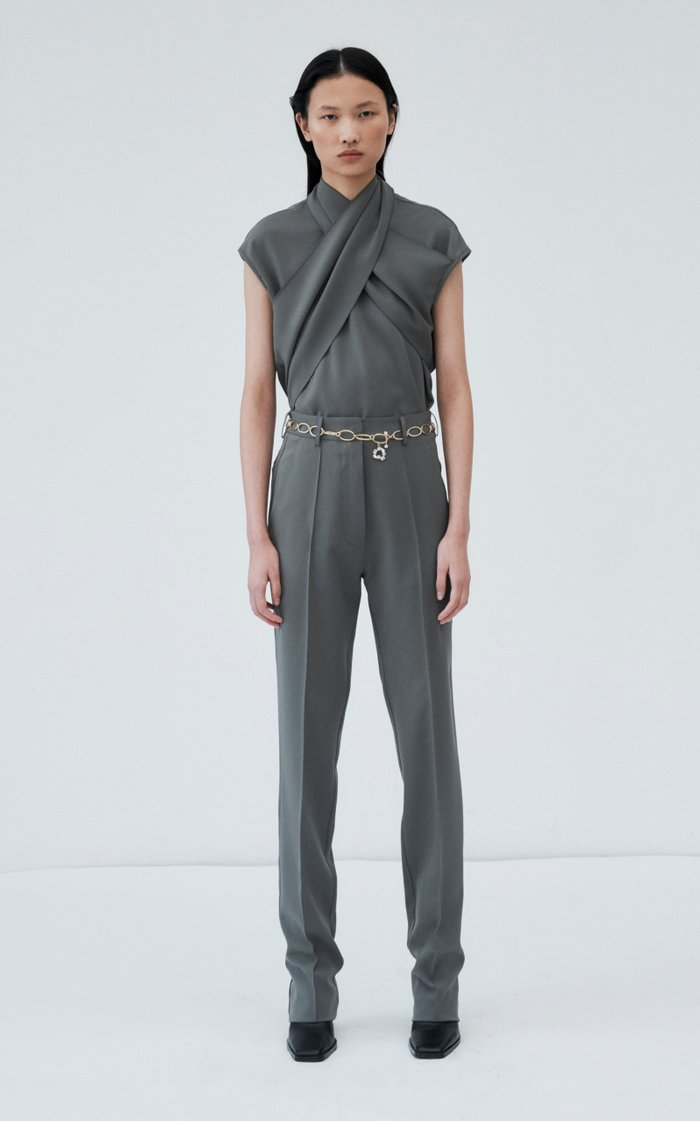 Ensor Draped Twill Top