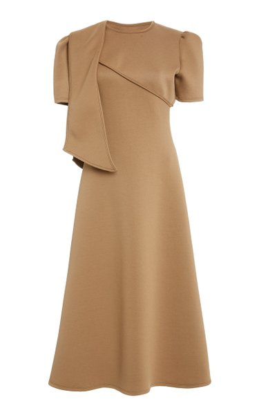 Elion Sash-Detailed Cady Midi Dress