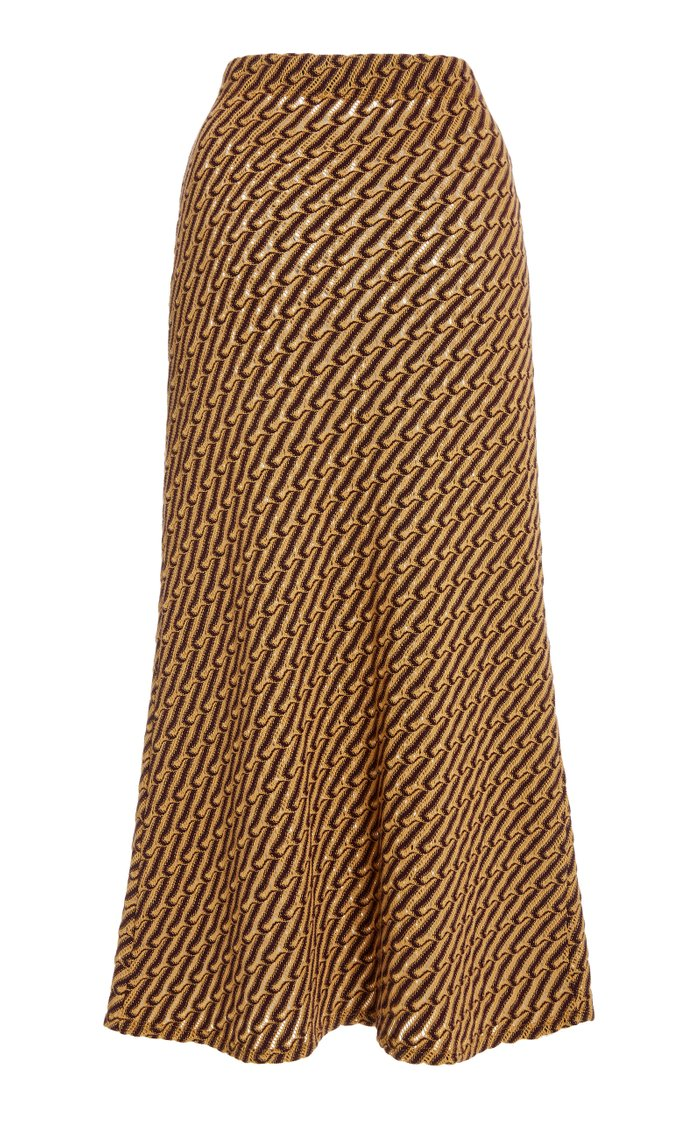 Balla Jacquard-Knit Midi Skirt