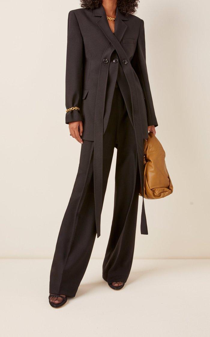 Sash Tie-Detailed Woven Blazer