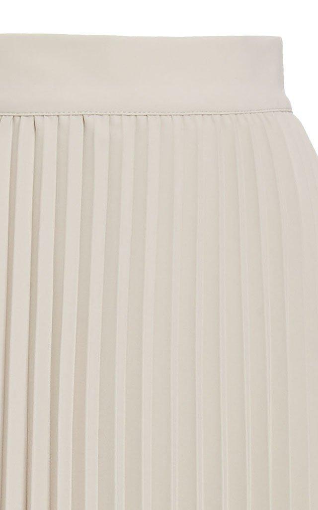 Janco Asymmetric Plissé Midi Skirt