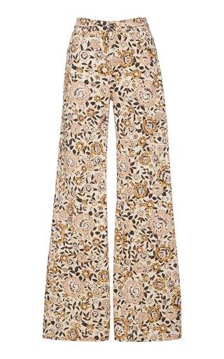 Violetta Stretch Printed High-Rise Flared Jean