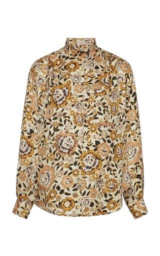 Barb Printed Silk Shirt