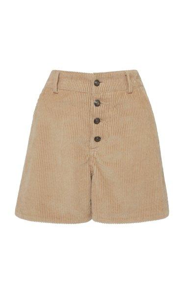 Cotton-Corduroy Shorts