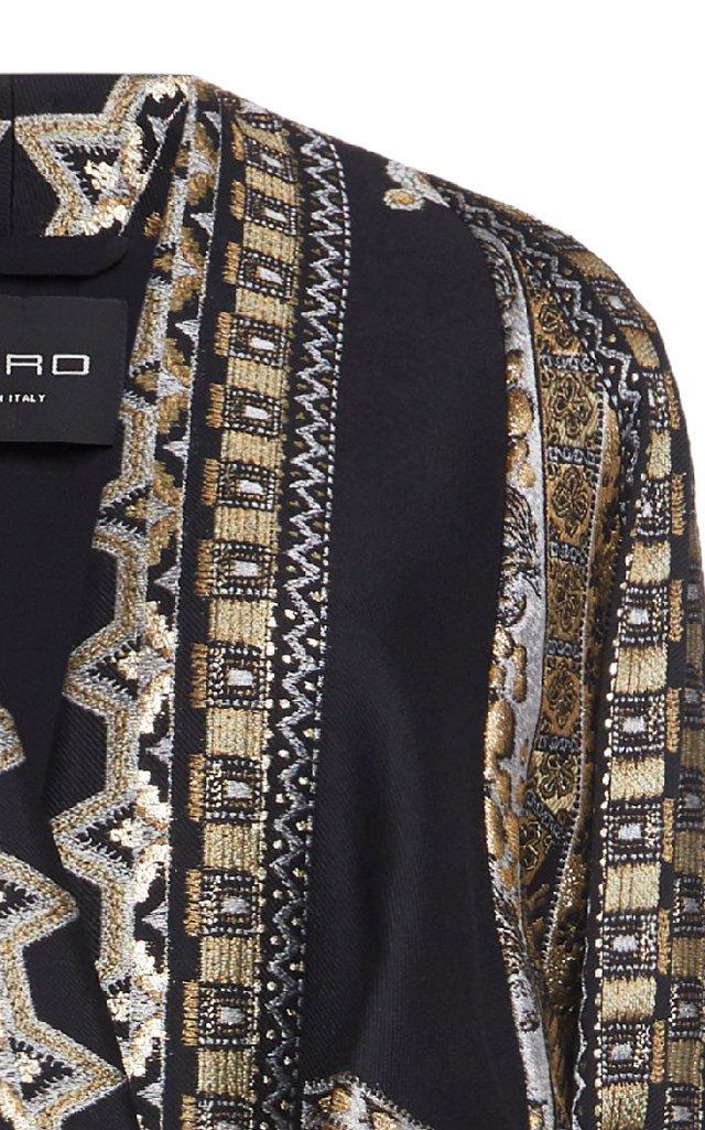 Metallic Wool-Blend Coat