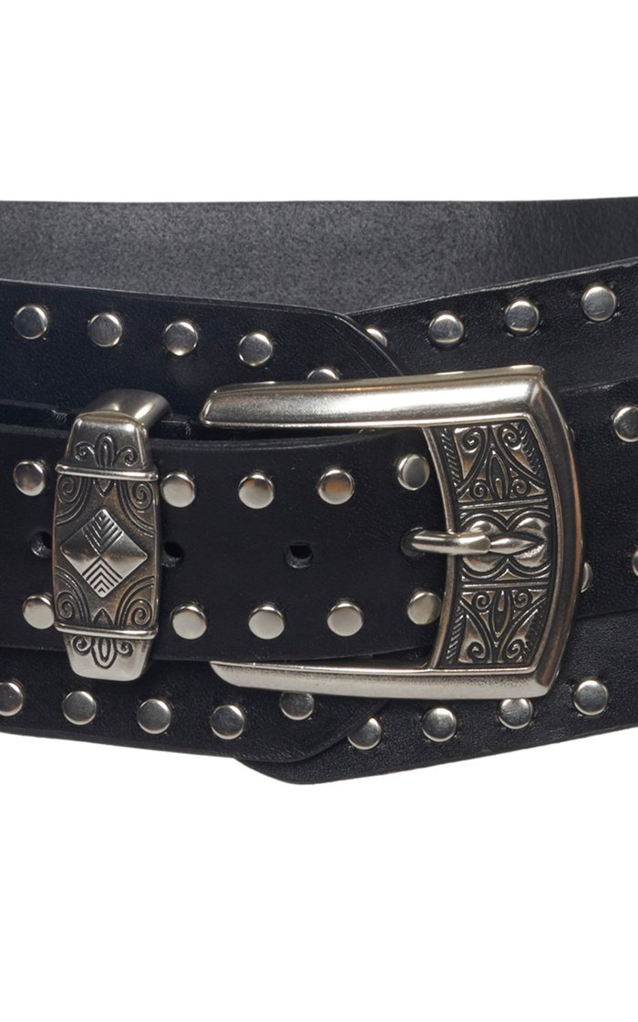 Studded Waist Leather Belt