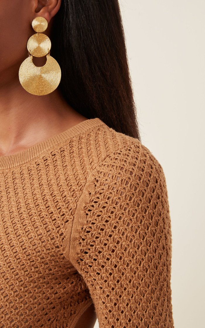 La Tropezienne Silk-Cord Clip Earrings