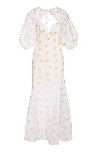 Sliced & Diced Floral-Print Cotton-Blend Maxi Dress