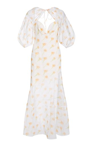 Sliced & Diced Floral-Print Cotton-Blend Maxi Dress