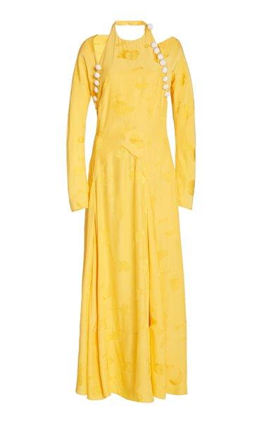 Hold My Bolero Cotton-Blend Maxi Dress