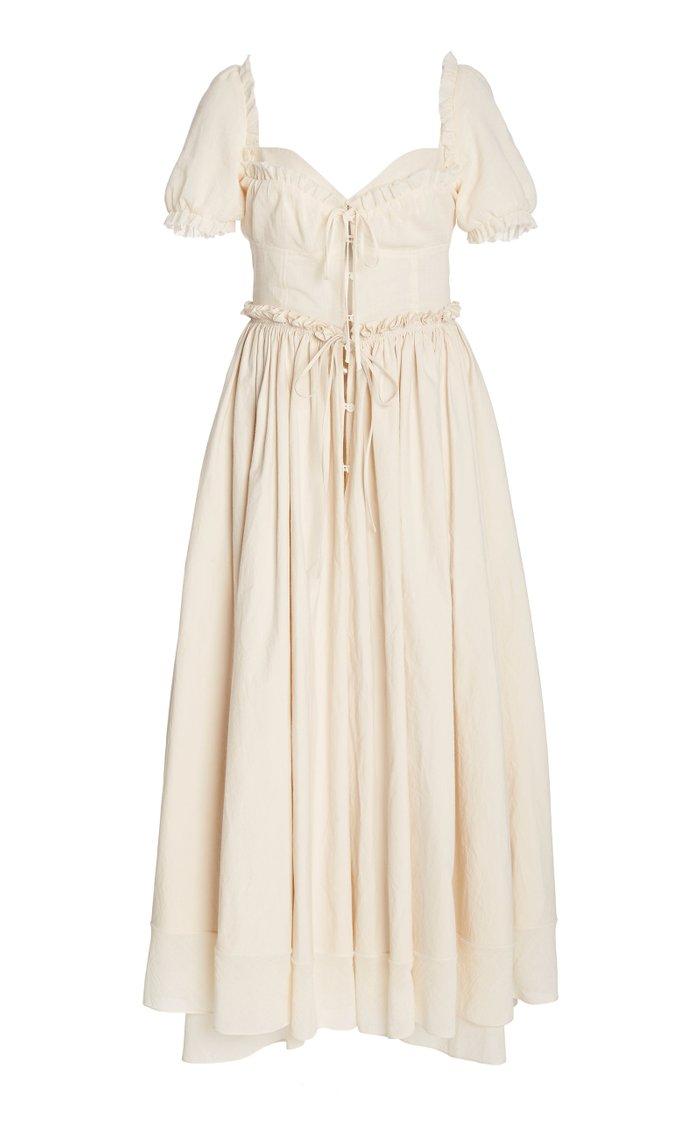 Garten Party Ruffled Cotton-Blend Maxi Dress