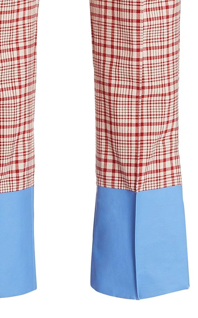 Oboe Plaid Cotton Slim Pants
