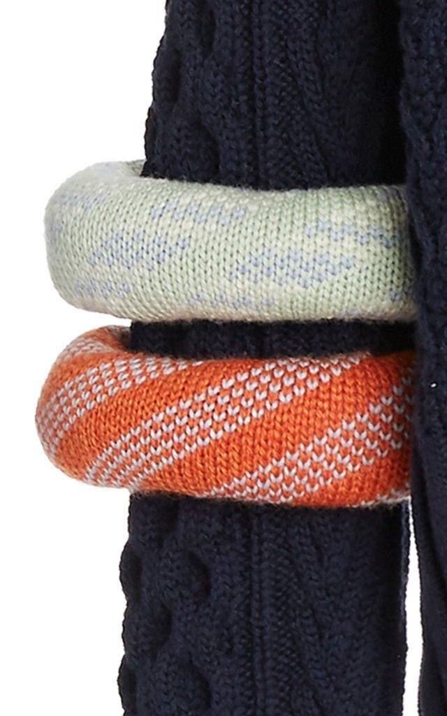 Bangle-Detailed Wool-Cotton Sweater