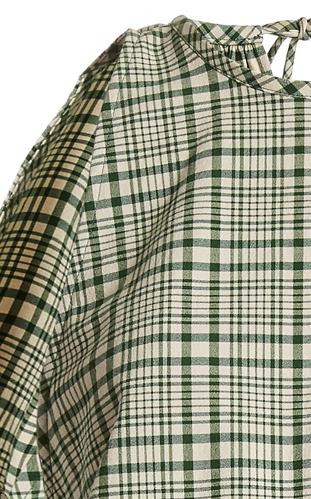 Party In The Back Plaid Cotton Top