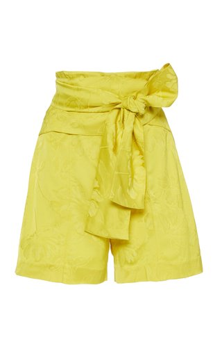 Limoncello Bow-Trim Shorts
