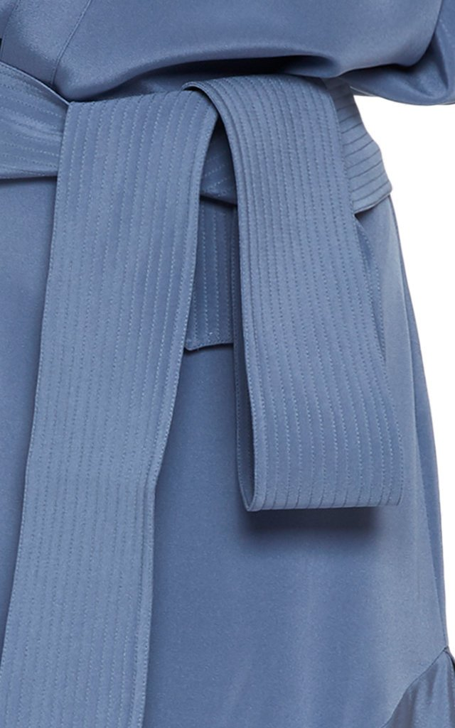 Protea Draped Stretch Silk Maxi Dress