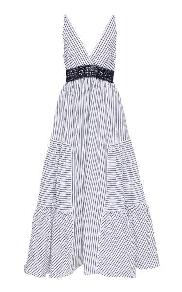 Canazei Striped Cotton Poplin Midi Dress