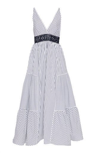 Canazei Striped Cotton Poplin Midi Dress