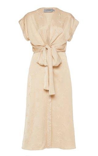 Aperol Tie-Front Midi Dress