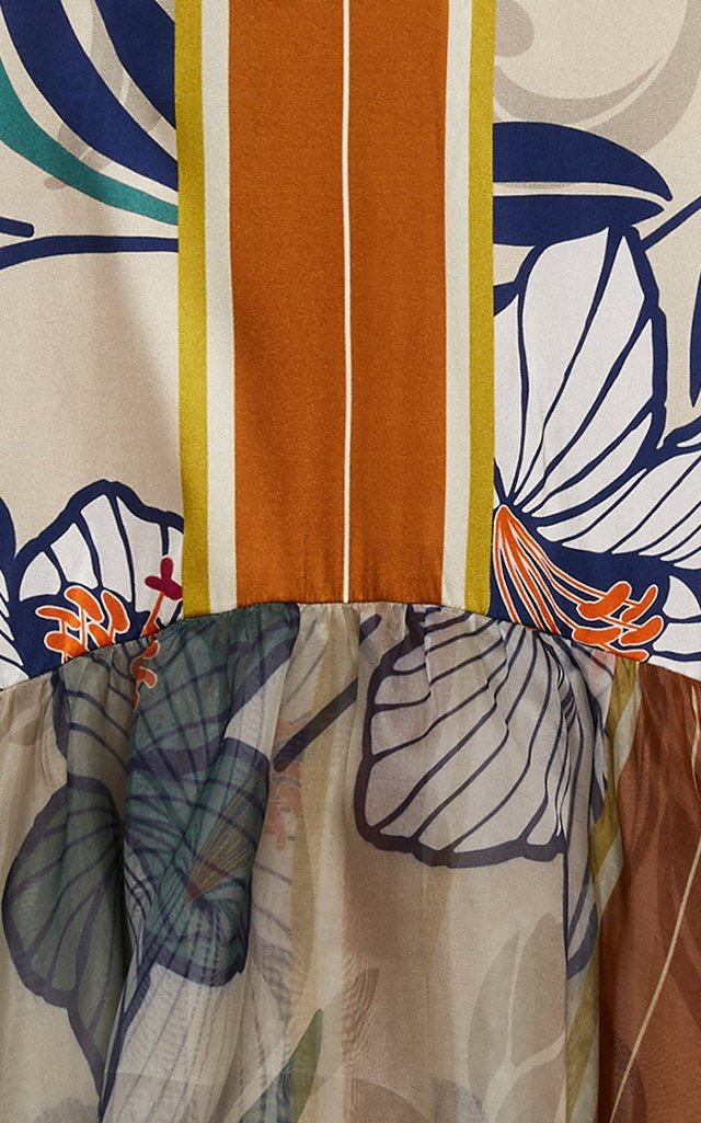 Catanzaro Printed Silk-Blend Dress