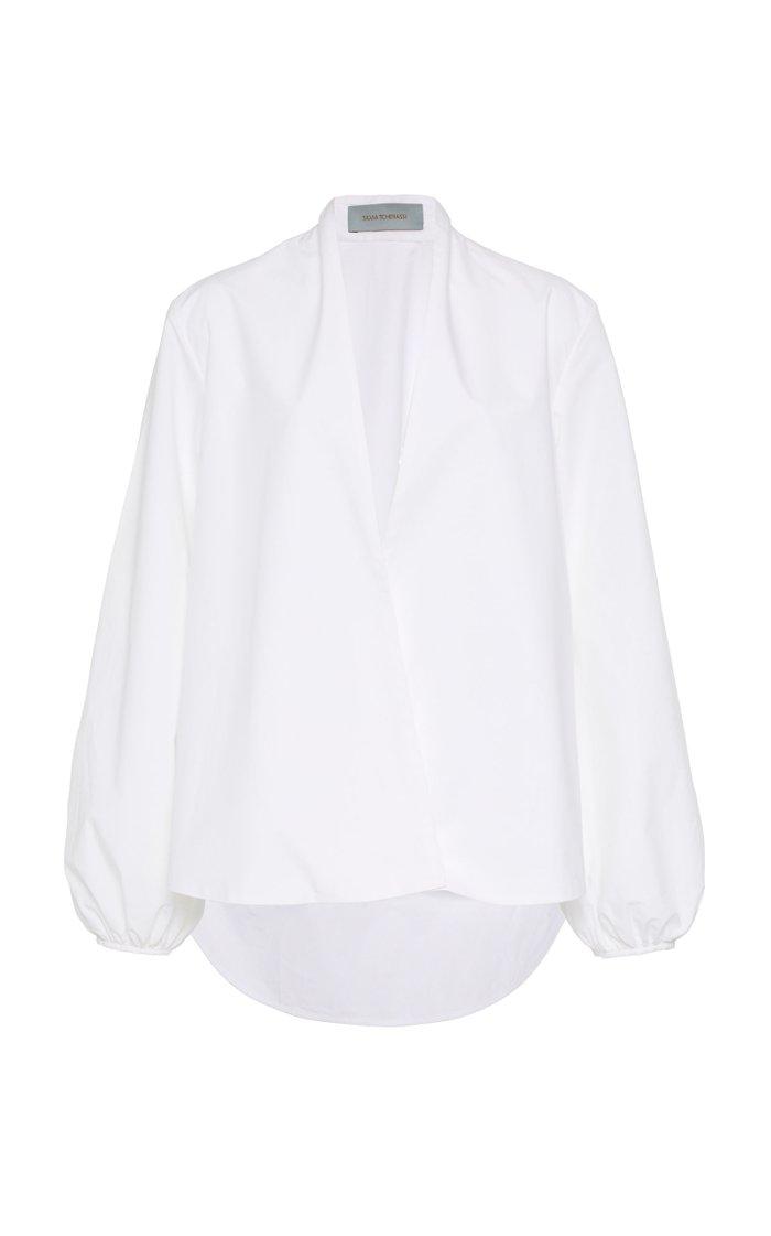 Cortona Collarless Cotton Shirt