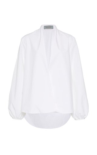 Cortona Collarless Cotton Shirt
