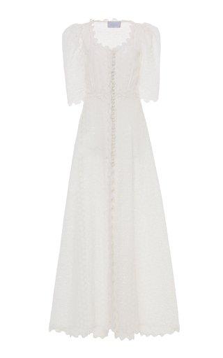 Puffed Sleeve Linen Dress