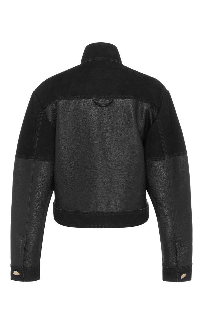 Motocyclette Leather Patch Jacket