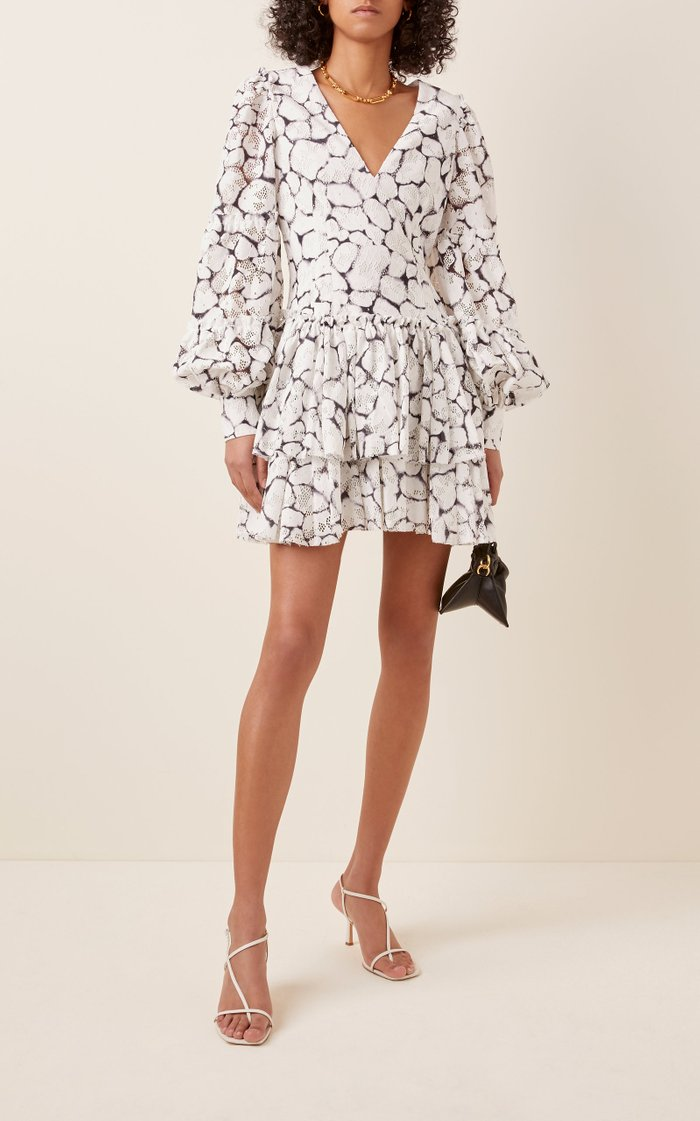 Rebellion Printed Lace Mini Dress