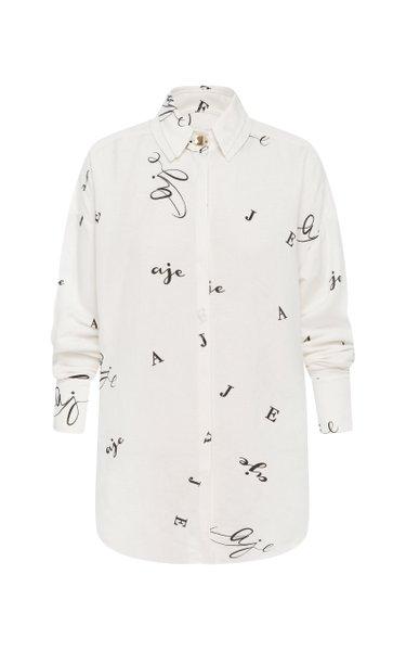 Psychedelia Logo Linen-Blend Shirt
