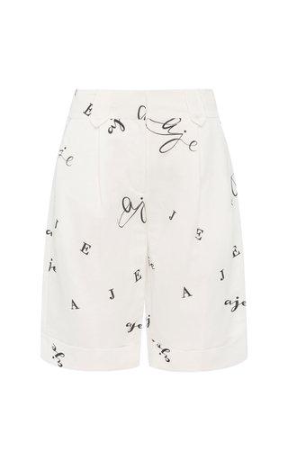 Psychedelia Logo Linen-Blend Bermuda Shorts