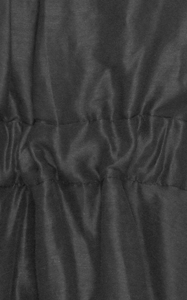 Psychedelia Silk-Linen Midi Dress