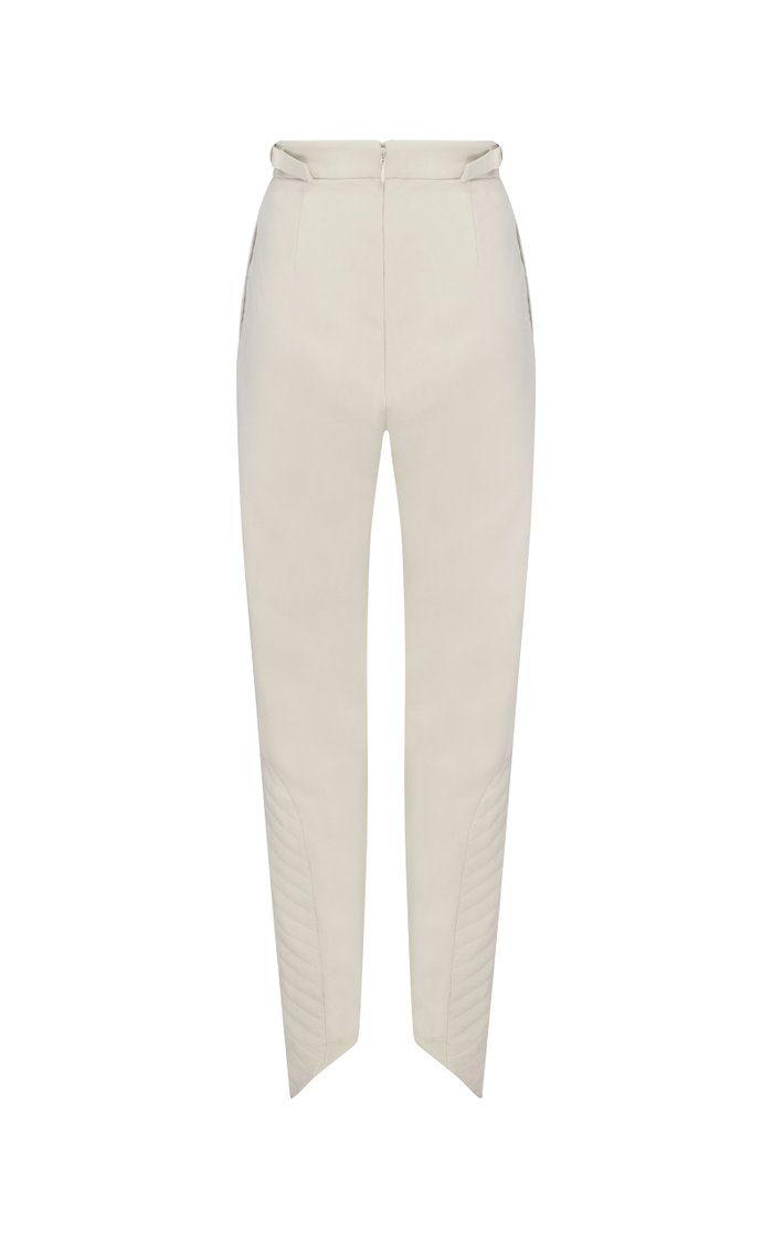Motocyclette Quilted Crepe Skinny Pants