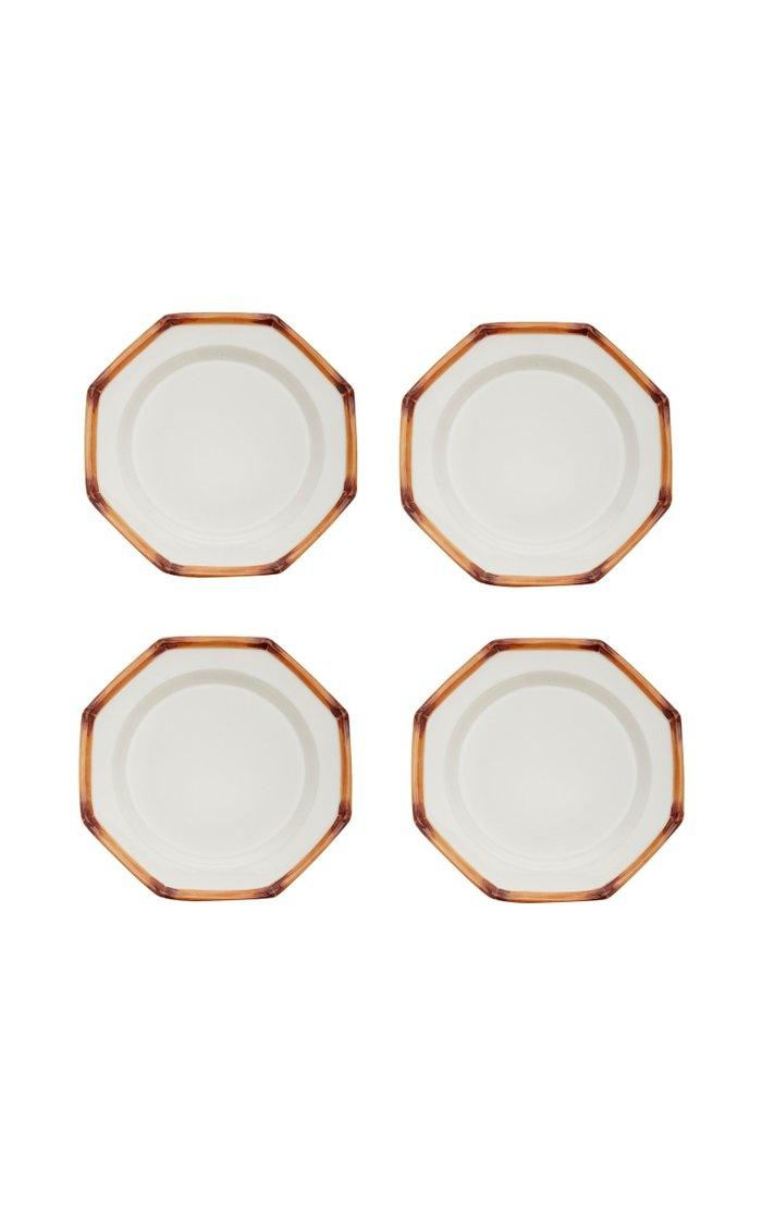Set-of-Four Ceramic Dinner Plates