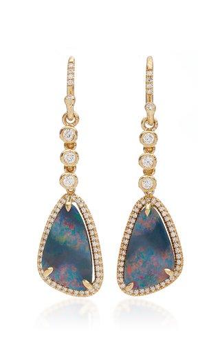 Petite Boulder Opal Earring