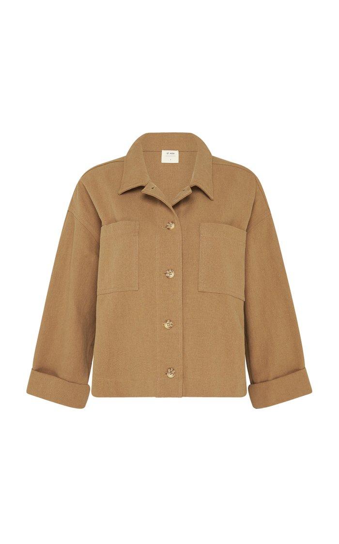 Oversized Cotton-Linen Workwear Jacket