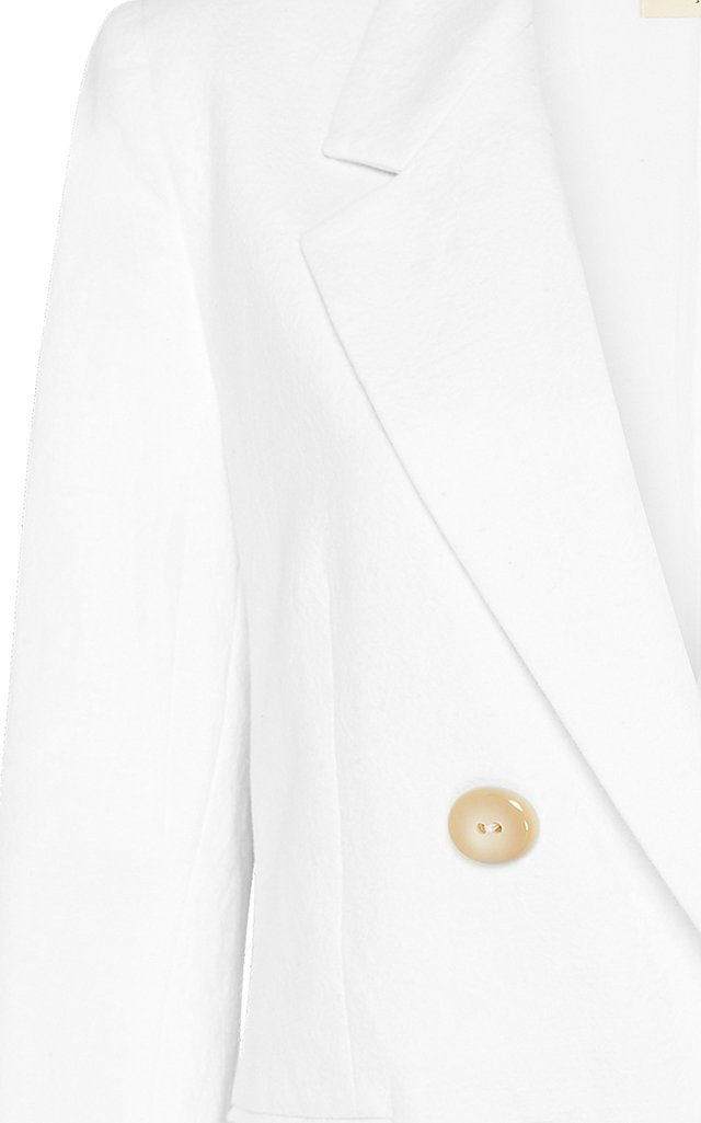 Annya Cotton-Linen Double-Breasted Blazer