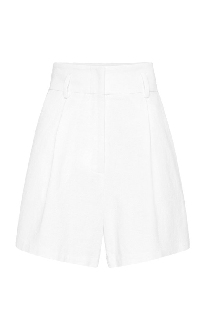 Ranger Pleated Cotton-Linen Shorts