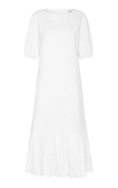 Kazumi Linen-Cotton Midi Dress