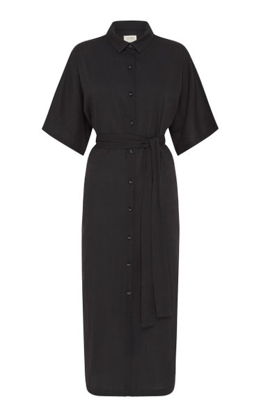Ceci Belted Cotton Shirt Dress