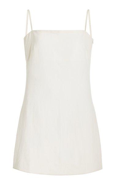 Anzu Linen-Blend Mini Dress