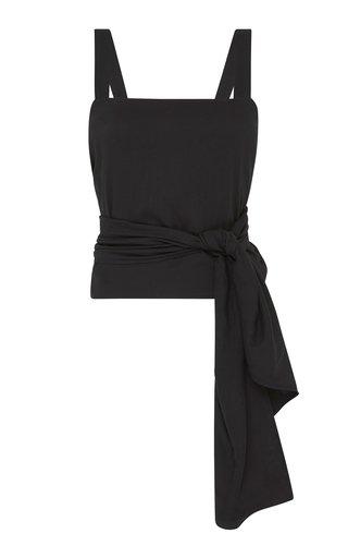 Yone Linen-Cotton Wrap Top