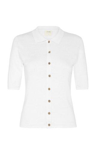 Chieko Cotton-Jersey Polo Shirt