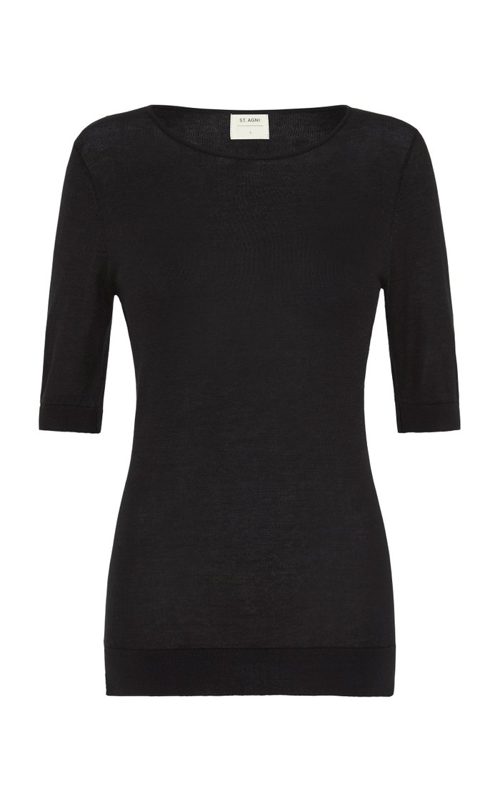 Sai Ribbed Cotton T-Shirt