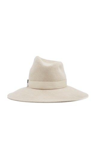 Drake Asymmetric Velour Felt Hat