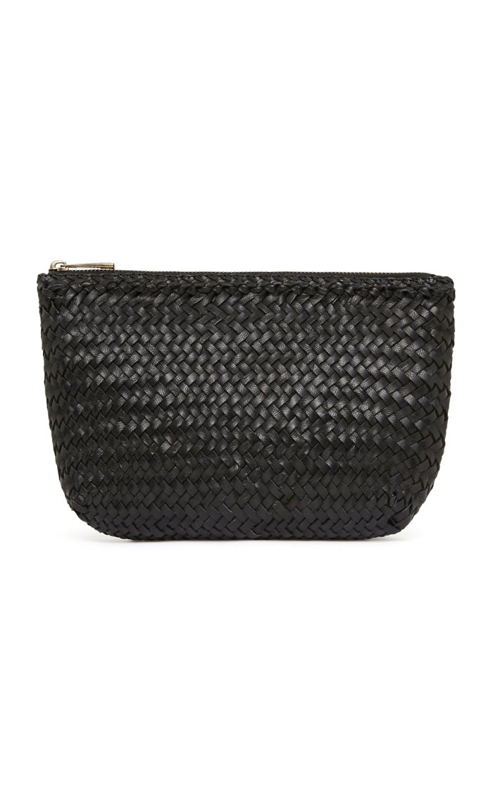 Ama Woven Leather Clutch