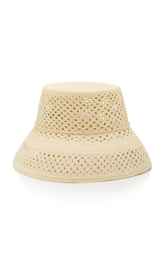 Calado Lamp Shade Straw Hat